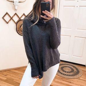 Caslon Dark Gray Cowl Neck Sweater